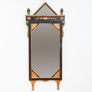 Continental Neoclassical Style Painted and Parcel-Gilt Mirror