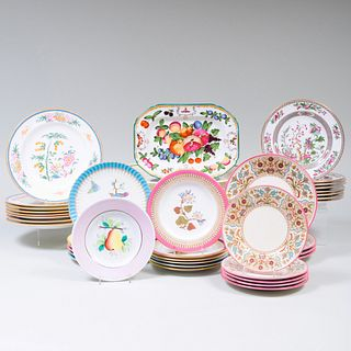 Assembled Group of English Porcelain Wares