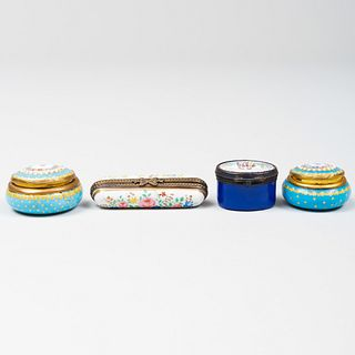 Group of Four Snuff Boxes