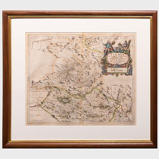 Joan Blaeu (1599-1673): Teviotia Vulgo Tivedale (Teviotdale, Scotland)