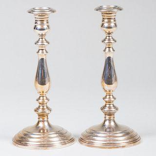 Pair of Gorham Silver Candlesticks