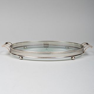 TIffany & Co. Silver-Mounted-Glass Tray