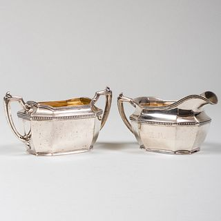 Gorham Silver Sugar Bowl and Creamer
