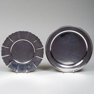 Tiffany & Co. Silver Salver and a Lobed Dish