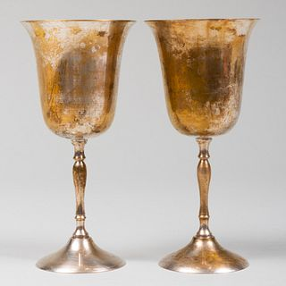 Pair of Silver Plate Goblets