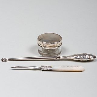 Group of Ladies Silver Toilette Articles