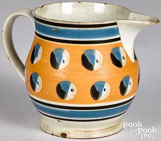 Mocha pitcher, with cat's-eye decoration