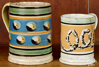 Two mocha mugs