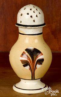 Mocha pepperpot, with fan decoration
