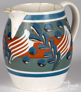 Mocha pitcher, with twig and cat's-eye decoration