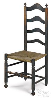 Delaware Valley ladderback side chair, late 18th c