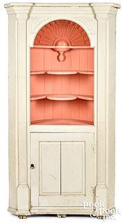 Bench made built-in one-piece corner cupboard
