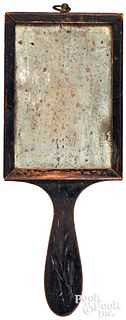 Painted pine dressing mirror, early 19th c., with