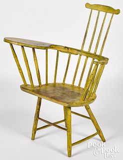 Writing arm Windsor chair, ca. 1825
