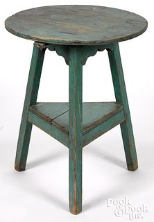 Painted pine tap table, ca. 1800