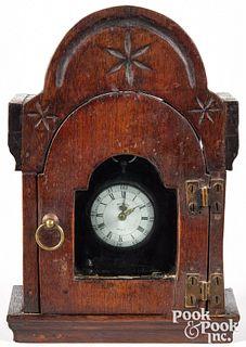 Pennsylvania walnut watch hutch, early 19th c.