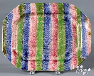 Three color rainbow spatter platter