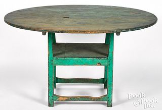 Painted pine chair table, 19th c.