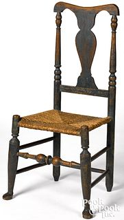 New England Queen Anne rush seat dining chair