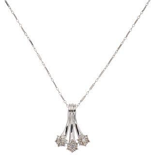 CHOKER WITH DIAMONDS IN 14K WHITE GOLD Brilliant cut diamonds ~0.80 ct. Weight: 6.9 g