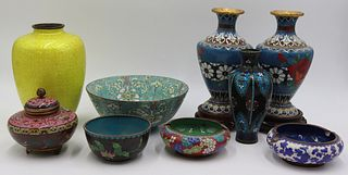 Grouping of Cloisonne and Enamel Vases.