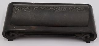 Signed Chinese? Inkstone on Stand.