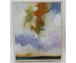 CONTEMPORARY CLOUDS WATERCOLOR PAINTING