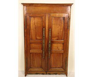 c.19TH CENTURY FRENCH CHERRY PANELED DOORS