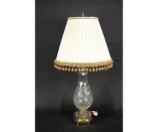 PAIR OF WATERFORD STYLE CUT CRYSTAL LAMPS