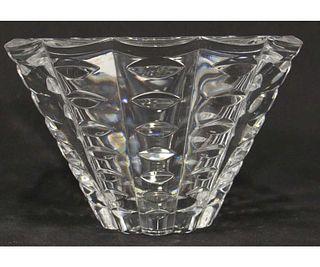 CONTEMPORARY CUT GLASS BOWL