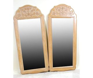 PAIR OF HICKORY MFG CO. COUNTRY FRENCH MIRRORS