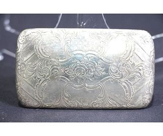 ANTIQUE STERLING SILVER VICTORIAN CASE, 1857