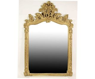 EARLY 20th CENTURY BAROQUE CARVED & GILDED MIRROR