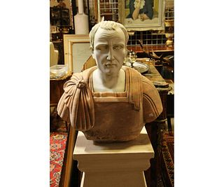 MARBLE AND GRANITE BUST