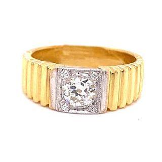 18k Diamond Unique Engagement Ring