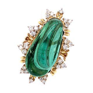 Burle Marx 18k Diamond Tourmaline Ring