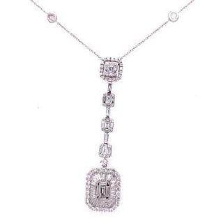 18k Diamond by the Yard with Diamond Pendant