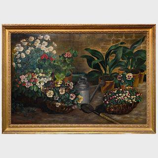 Blanche Allain Sarciron: Floral Still Life