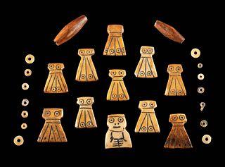 Egyptian Coptic Bovine Bone Beads (27 pcs)
