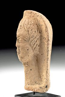 Etruscan Molded Terracotta Head of Woman