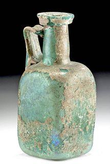 Vibrant Roman Glass Jug w/ Nice Iridescence