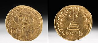 Byzantine Gold AU Solidus of Constans II