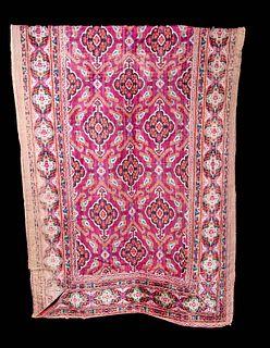 Large 19th C. Persian Qajar Velvet Runner