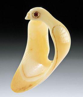 18th C. Mughal Walrus Tooth Archer Ring