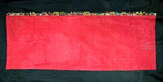 Large Paracas Gauze Textile w/ Hummingbird Fringe