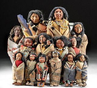 20th C. Native American Dolls - 6 Skookum