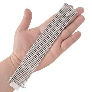 Diamond and 14K Wide Bracelet