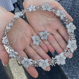 Diamond and 18K Necklace and Earrings