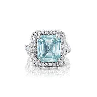 GRS Sapphire, Diamond and 18K Ring