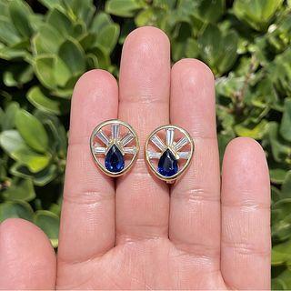 Sapphire, Diamond and 18K Earrings